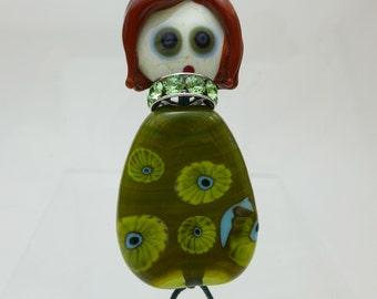 Doll Fiona - focal lampwork beads