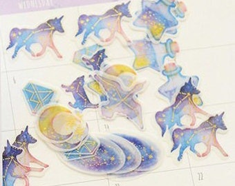 constellation sticker, decoration sticker