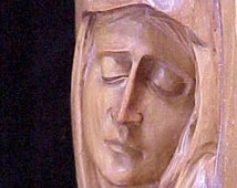 Sorrowful Mother Antique Wood Carving Pre-WWII