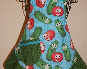 Child's Small Veggie Tales - Bob and Larry Apron