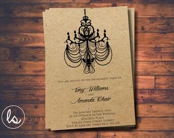 Gatsby Invitation ~ Engagement Invitation ~ Glitz And Glam ~ 1920u0027s Wedding  Invitation ~ Printed Invitations