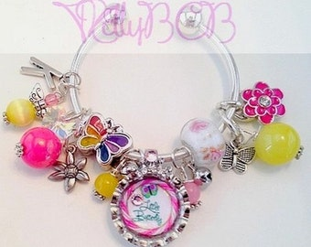 Little Butterfly Kids Bracelet with Charms (Handmade)