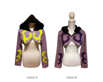 Demon Hunter inspired cosplay hoodie (shrug style) Legion, World of Warcraft, Illidan