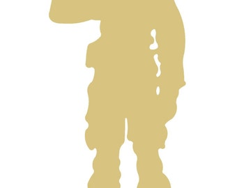 Army Soldier Style 1 Unfinished Wood Shape Cutouts Variety of Sizes USA Made Home Decor