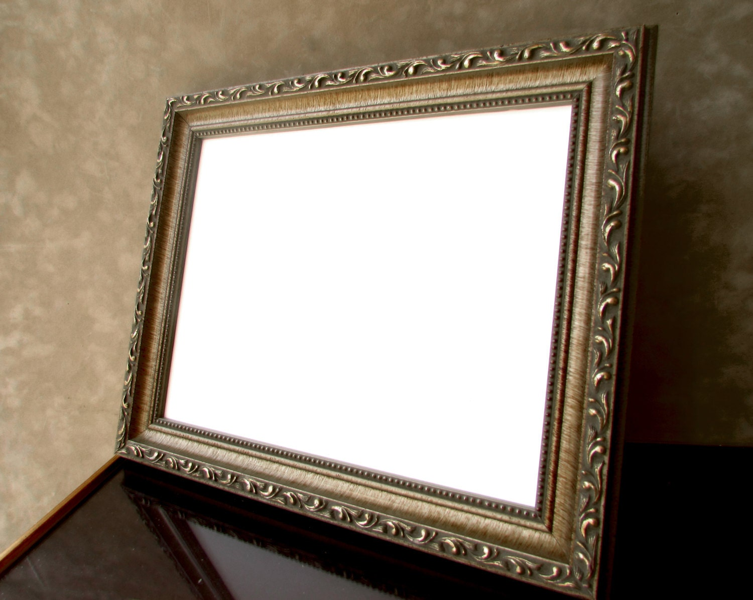 8x10 Photo Frame Antique Silver Frame Silver by CiracoFramers