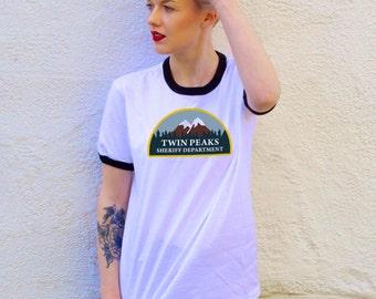 Vintage Style Twin Peaks Ringer Tee