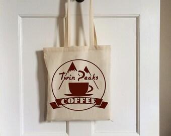 Vintage Twin Peaks Coffee Tote Bag