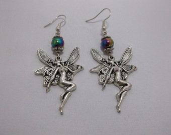 Beautiful Hypoallergenic Rainbow Hematite Fairy Earrings