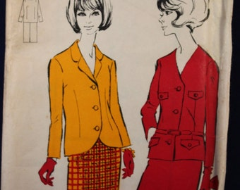 1960's Woman's Skirt Suit Sewing Pattern Blackmore 4012 in Size 18