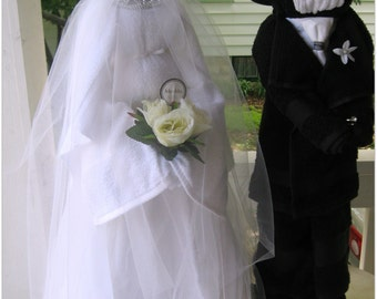 Bridal Shower, Bride & Groom,Bridal Shower Decorations made of all towels,Wedding Shower Gift,Bridal Shower Gift,Shower Centerpieces Wedding
