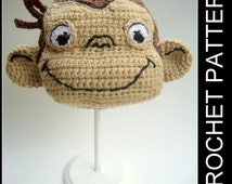 Curious George Hat - crochet pattern - newborn to adult sizes - PDF Instant Download