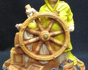 Apsit Studios Harbor Light Originals Fisherman at the Wheel Sculpture