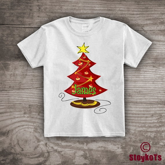 Christmas Shirts For Kids Message Tees Gift Ideas Tree