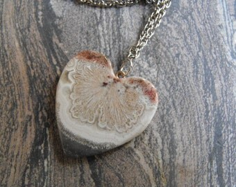 Crazy Lace Agate Heart, Handmade In America