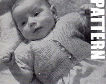 Baby Cardigan, Vintage Knitting Pattern, Sleeveless Cardigan, Knitted Cardigan, PDF Instant Download