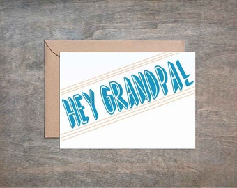 Hey Grandpa. Funny Father's Day Card. Funny Father Birthday Card. Funny Grandpa Card. Funny Grandfather Card. Grandpa Bithday. Grandfather.