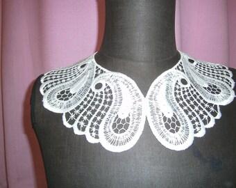 white collar - lace - round collar - vintage collars - elegant collar