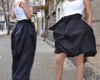 Maxi Skirt/Long or Short Skirt/ Cotton Skirt/Woman Skirt/Transformation Skirt by CARAMELfs  S08416