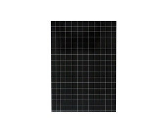 "Illustrated Notebook 100 lined sheets - A5 14.8cmX21cm (5.8""X8.3"") Grid Black and White Notepads Kawaii Minimal notebook"