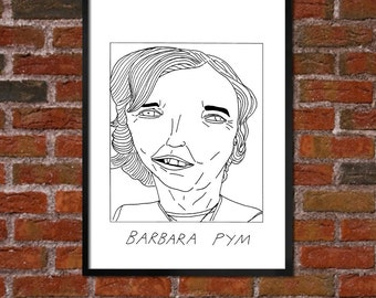 Badly Drawn Barbara Pym - Literary Poster - *** BUY 4, GET A 5th FREE***