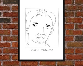 Badly Drawn Jack Kerouac - Literary Poster - *** BUY 4, GET A 5th FREE***