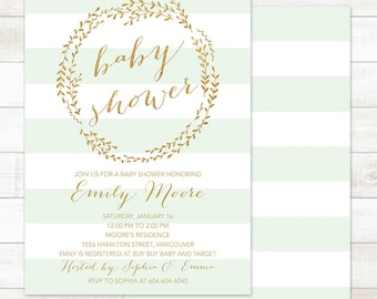 Gender neutral baby shower invitation Etsy