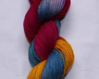 Hand dyed 4ply 100% BFL British Yarn - Tropical