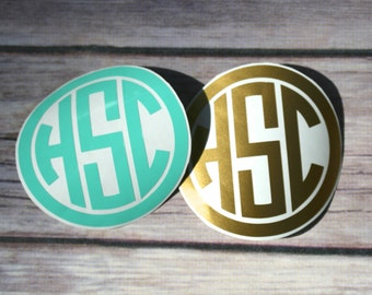 Circle Framed Monogram Decal
