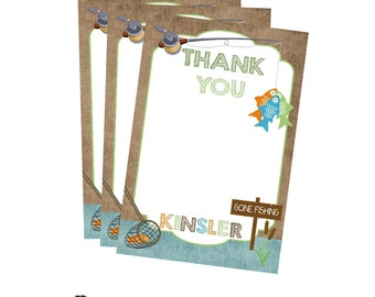 FISHING Brithday Party  THANK YOU Note