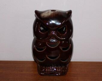 Lovely vintage retro 70s ceramic Owl votive candle holder. Made by Guldkroken, Sweden Scandinavian.