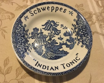REDUCED French Vintage Schweppes Indian Tonic  tip / pin tray by Luneyville