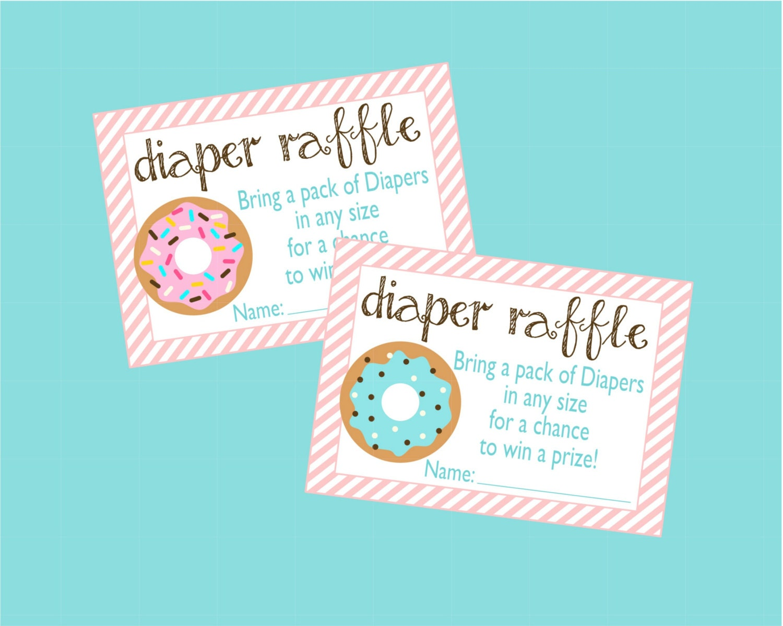 donut diaper raffle card  donut baby shower baby sprinkle