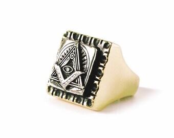 Freemason Ring Sterling Silver 925,