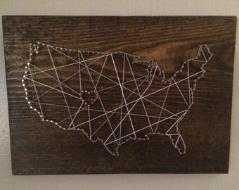 USA Nail String Wall Hanging