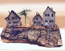 Handmade miniature houses