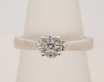 0.25 Carat T.W. Marquise & Princess Cut Diamond Engagement Ring 14K