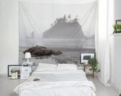 Washington Coast Wall Tapestry, Dorm Decorations, Lightweight Wall Art, Nature Tapestries, Beach Tapestry