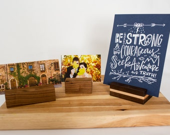 Handmade Wood Block Picture or Art Print Stand