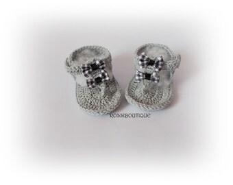 Gray Baby Flip Flops, Crochet Baby Sandals, Gtay sandals, Crochet Baby Flip Flops Newborn sandles Crochet Baby Sandals, Baby girl flip flops