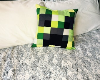 Minecraft Inspired Pillow | Creeper Pillow | Pillowcase Only