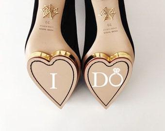 I Do Wedding Shoe Vinyl Decal