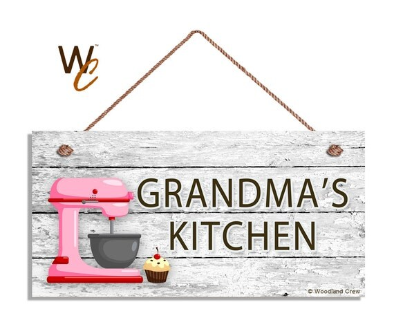 Kitchen Signs For Sale: ON SALE Grandma's Kitchen Sign Pink Mixer And Cupcake