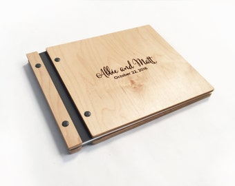 Wooden Guestbook Personalized Wedding Gift Wedding Guestbook Wedding Book Wood Guest Book Wood Wedding Book Guest Book - 8.5x11