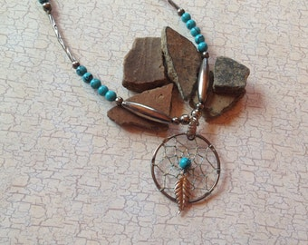Vintage Native American Necklace,  Turquoise Necklace, Gift For Her, Native American Jewelry