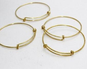 3 Pcs Memory Wire Bracelet , Expandable Bangle  , Bangle Bracelet, Adjustable Bracelet Wire , 1,6x60mm , AE14