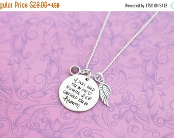 Miscarriage jewelry etsy i will hold you in my heart until i can hold you in heaven pendant aloadofball Choice Image