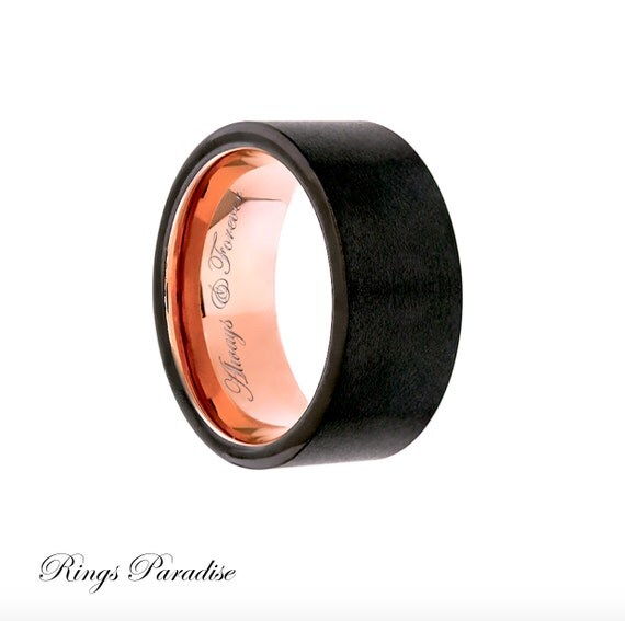 promise ring tungsten carbide ring gold by ringsparadise
