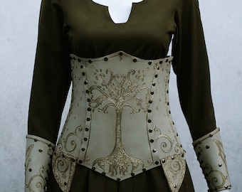 Elven Leather Corset and Cuffs
