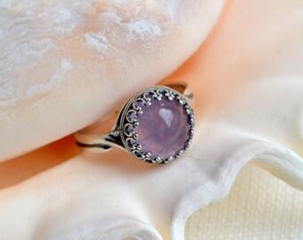 Sterling Silver Amethyst Ring,  Amethyst Ring, Gemstone Ring, Stacking Ring, Sterling Silver Ring