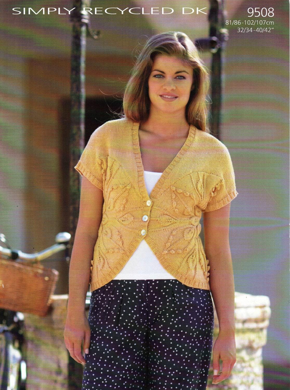 Knitting Pattern Cardigan Short Sleeve : womens short sleeve cardigan knitting pattern womens waistcoat